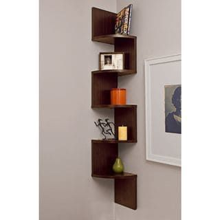 Danya B Large Decorative 5 Tier Corner Floating Wall Mount Display Shelving Unit Floating Corner Shelves Corner Wall Wall Mounted Shelves