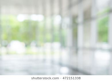 Atmosphere Around Office Blur Background With Bokeh Blurred
