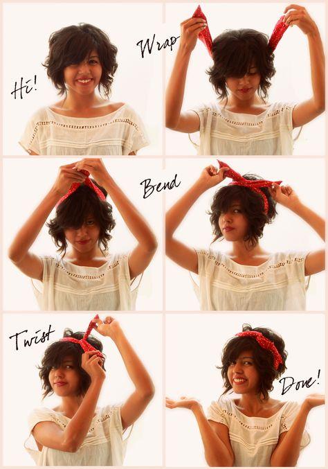 How to wear a Wire Fabric Headband ( Bendy)  8bd4b1e07c6