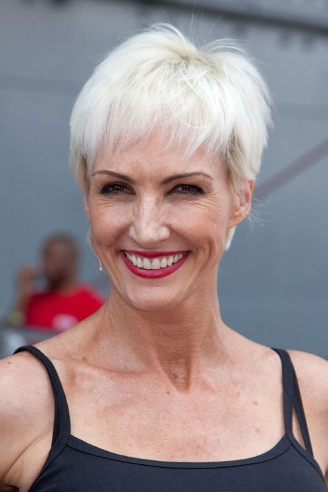 Broadway starAmra-Faye Wright sports a fabulous silver pixie with bangs -- one of our favorite haircuts for women over 50.More about short hair styles over 50:Pixie Haircuts for Older WomenTop 10 Must-Knows for Short Hair Over 50Adorable New Short Hairstyle for Over 50
