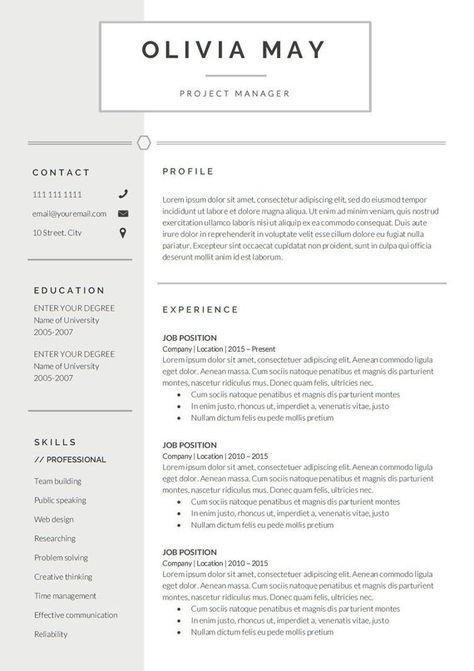 Resume Template BuProfessional Resume | CV Template | Modern Resume | Resume | Resume Template Word | CV | Resume Design