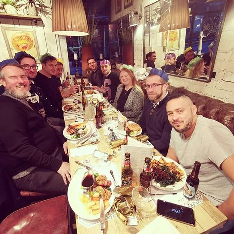 "Dan Grabham on Instagram: ""@pocketlintcom Christmas Lunch! 🎄🍽️😀 . . . . #christmaslunch #christmas #pocketlint #bills #lunch #xmas #drinks #drink #colleagues…"""