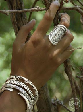 bijoux ethniques en argent massif