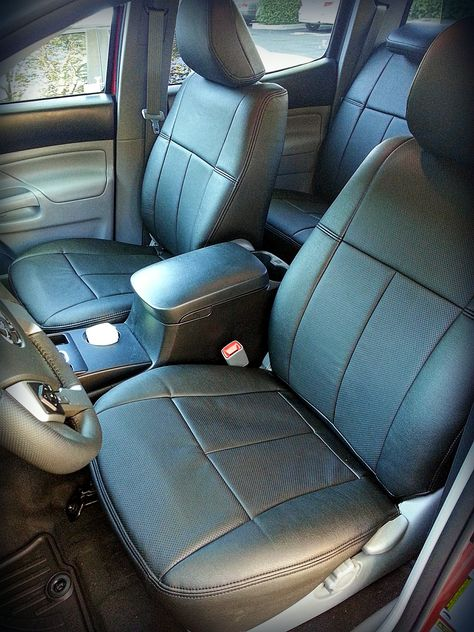 Leather Interior I Installed Which I Bought From Clazzio Com Front Row Leather Car Seats 2015 Toyota Tacoma