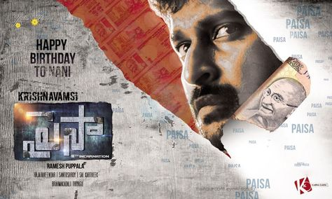 hindi dubbed movies of nani - paisa poster