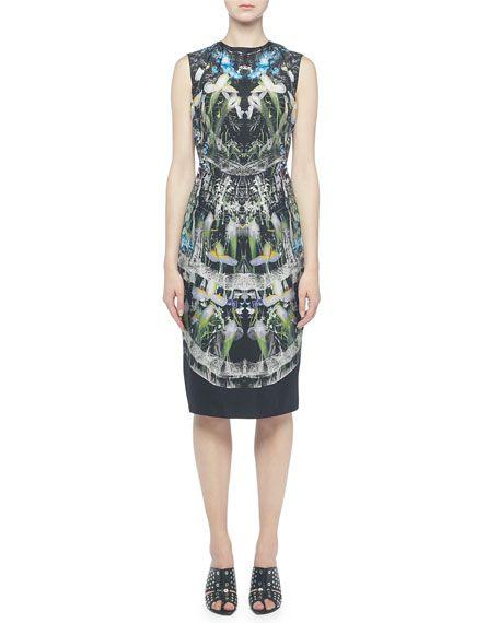 387d916d Ophelia Printed Sleeveless Sheath Dress by Alexander McQueen at Neiman  Marcus