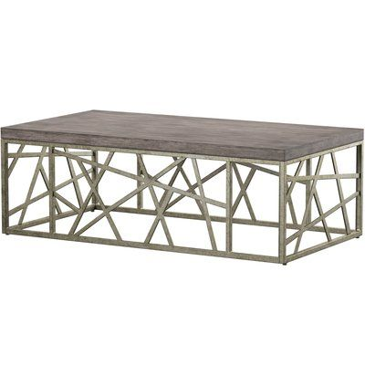 Mercury Row Kyzer Coffee Table Coffee Table Coffee Table Wood Metal Coffee Table