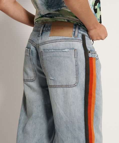 Montana Retro Stripe Smiths Trouser Jean Oneteaspoon In 2020 Trouser Jeans Denim Wash Trousers