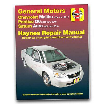Advertisement Ebay Haynes 38027 Repair Manual Chevrolet Malibu 04 12 Pontiac G6 05 10 Saturn Uw Chevrolet Malibu Repair Manuals Chrysler Pt Cruiser
