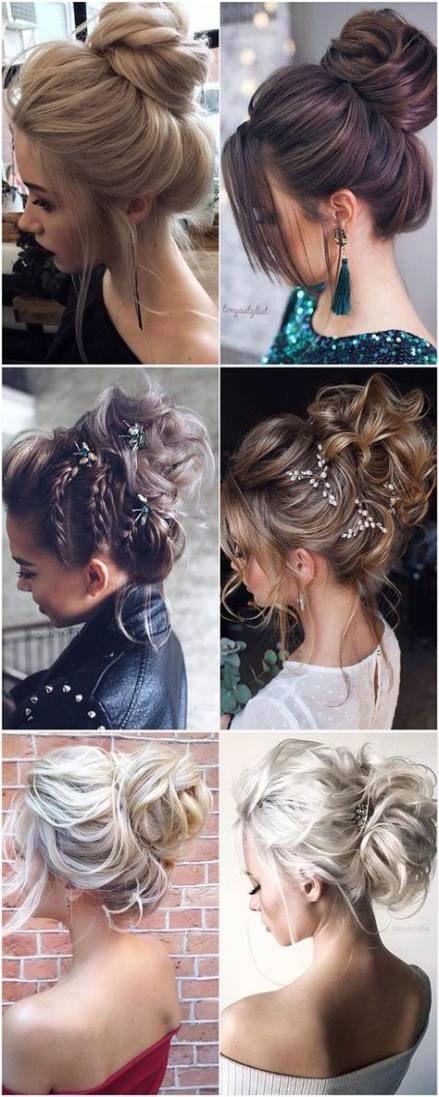 39 Ideas Hair Wedding Messy Top Knot Long Hair Updo Long Hair Styles Hair Styles