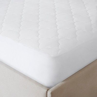 All Natural Cotton Percale Quilted Mattress Pad With Spandex Snug