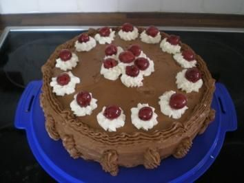 Schoko Sahne Kirsch Torte Rezept Schokoladen Kuchen Schokoladen Sahne Torte Und Schoko Sahne Torte