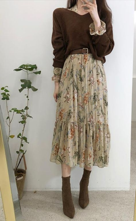 Aesthetic Fashion, Look Fashion, Aesthetic Clothes, Autumn Fashion, Fashion Pants, Long Skirt Fashion, Street Hijab Fashion, Muslim Fashion, Mode Outfits