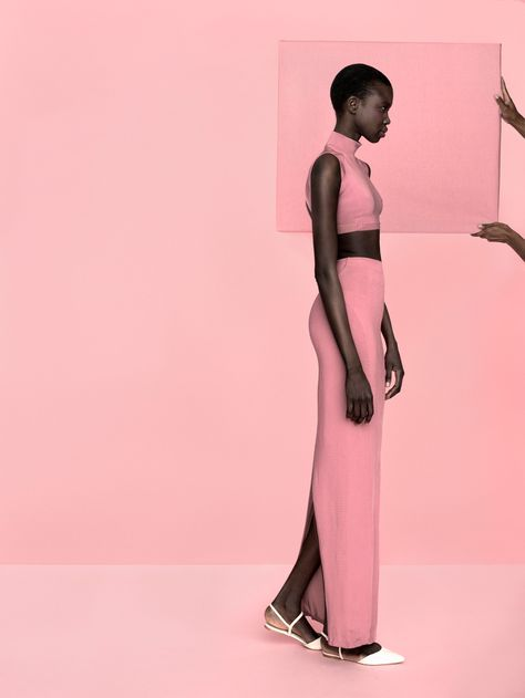 DYNAMIC AFRICA — Model of South Sudanese origin Nykhor photographed...