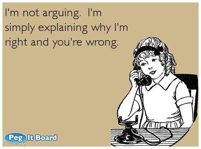 Image result for I'm not arguing