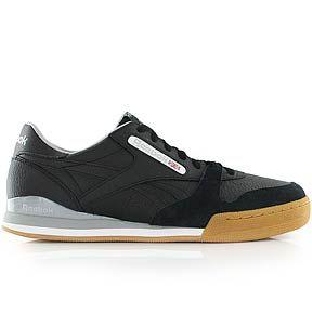 Reebok Phase 1 Pro Cv Black White Stark Grey Gum Bei Kickz Online Bestellen Keine Versandkosten Kostenfreie Hotline Reebok Reebok Sneakers Black And White