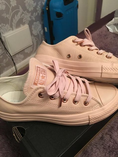 511e2d96e15d Buy Pastel Rose Tan Rose Gold Exclusive Converse All Star Low Leather from  OFFICE.co.uk.