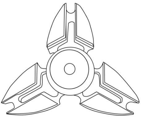 Best Fidget Spinner Coloring Page
