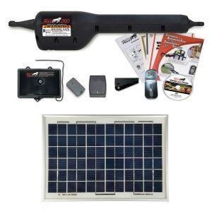 Mighty Mule Mm260 Solar Package Light Duty Single Gate Opener Solar Made In 2020 Solar Swing Gate Opener Gate