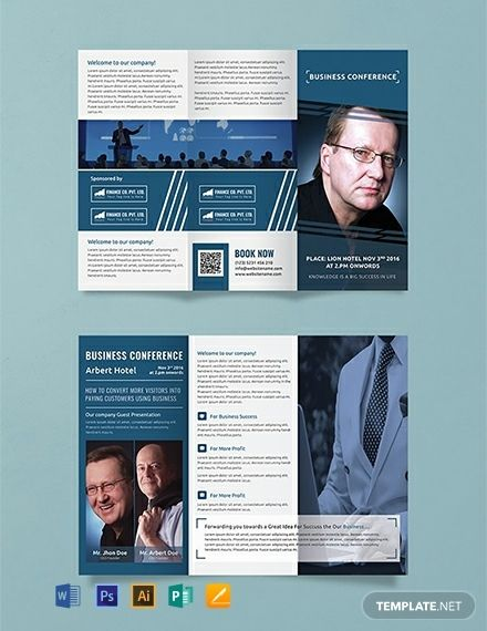 Free Business Conference A3 Tri Fold Brochure Brochure Template