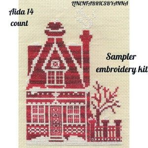 New sealed counted cross stitch hand embroidery kit materials included mother/'s day gift beginner hand embroidery kit sampler embroidery