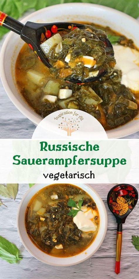 Erfrischend, angenehm säuerlich, aromatisch und so unheimlich lecker ist die russische Sauerampfersuppe, die zu den beliebtesten Sommersuppen gehört und auch Grüner Borschtsch genannt wird. Nach diesem einfachen Rezept kannst du die Suppe mit Sauerampfer vegetarisch selber kochen.