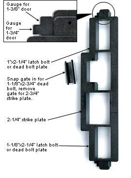 Original Carey Strike Latch Plate Template Woodworking Latches Door Installation Plates