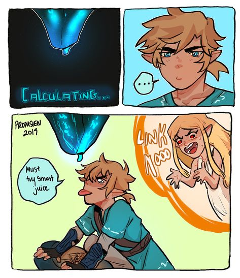 Legend of Zelda Breath of the Wild inspired comic art > Link wants to taste the ancient power > botw humor Legend Of Zelda Memes, The Legend Of Zelda, Legend Of Zelda Breath, Video Games Funny, Funny Games, Image Zelda, Botw Zelda, Link Zelda, Breath Of The Wild