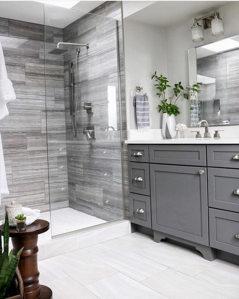 Double Bathroom Vanity Designs Ideas - If space authorizations, 2 sink areas provide wonderful benefit in shared washrooms. Locate ideas for bathroom vanities with double the space, ... #doublebathroomvanity #bathroomideas #doublebathroomvanity