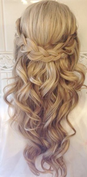 Simple Wedding Hairstyles To The Side Simple Wedding Hairstyles For Brides Long Hair Styles Hair Styles Braids For Long Hair
