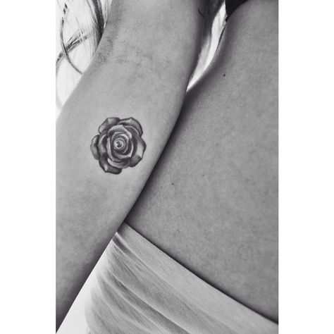 Ink Rose Tattoo Small tattoo inspiration Black and white tiny tattoo I like but with dark red