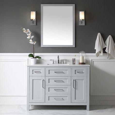 21+ Dove grey bathroom furniture inspiration