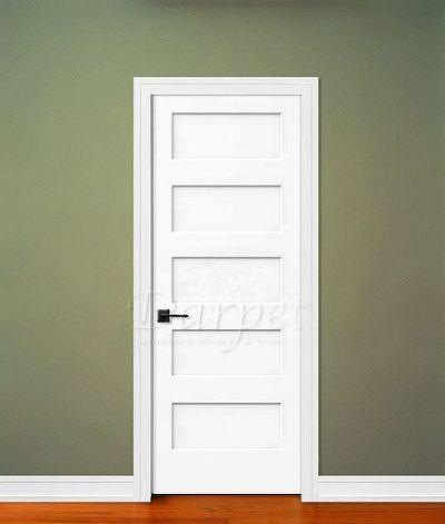 5 Panel Flat Door Conmore From Doors Interior Shaker Style Empty Nester House Plans