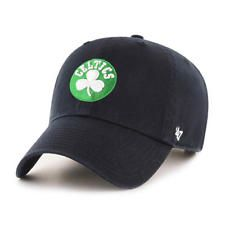 244c4a15d42 Boston Celtics 47 Brand Clean Up Mens Black Strapback Adjustable Dad Hat Cap