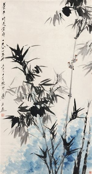Tang Yun - FLOWER AND BIRD, ink and color on paper