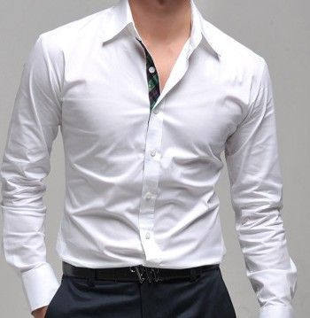2016 new casual long sleeve shirts dress male mens clothing social ...