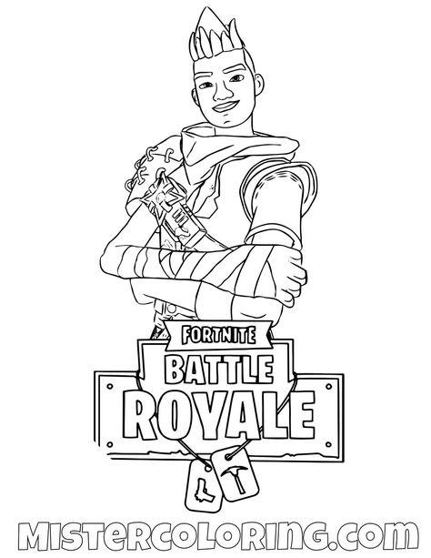 free ninja fortnite skin coloring page