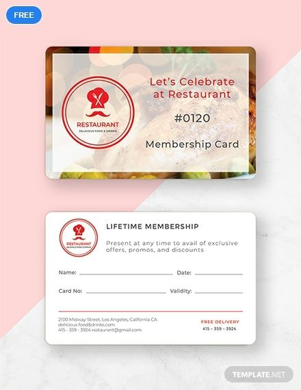 Free Simple Membership Card Template Word Doc Psd Indesign Apple Mac Pages Illustrator Publisher Membership Card Card Template Gym Membership Card