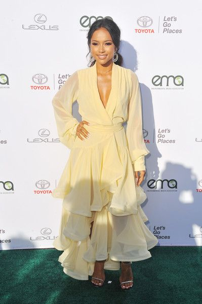 Karrueche Tran attends the Environmental Media Association's 27th Annual EMA Awards.