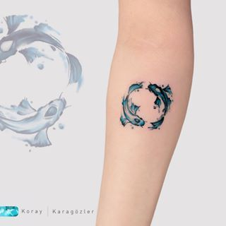 Watercolor Tattoo K O I F I S H What Goes Around Comes