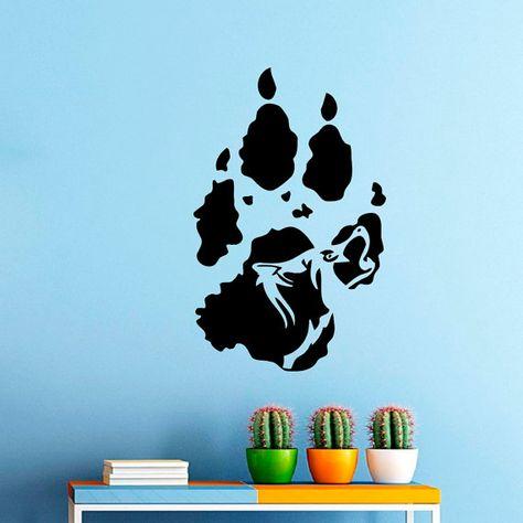 Howling Wolf Wall Vinyl Decal Sticker Decor от Wisdomdecals