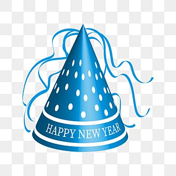 Cone Shaped New Year Hat With White Dots And Decorative Ribbons Celebration New Hat Png And Vector With Transparent Background For Free Download New Years Hat Shapes Episode Interactive Backgrounds