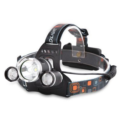 Aluminium Alloy 3 Led Head Lamp Highlight Adjustable Rechargeable 4 Mode Sale Price Reviews Gearbest Outdoor Headlamp Headlamp Led Headlamp