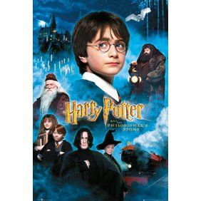 Harry Potter And The Sorcerer S Stone Movie Poster Print Us Regular Style Size 24 X 36 Walmart Com Harry Potter Movie Posters Harry Potter Movies Harry Potter Movie Night