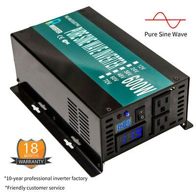 Sponsored 36v To 120v Pure Sine Wave Inverter 600w Dc To Ac Car Power Inverter For Camp Rv Power Inverters Solar Power Inverter Sine Wave