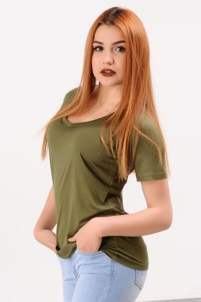 Bayan Tisort V Yaka Yesil T Shirt Tarzi Muhafazakar Marjinal Bayan Gotik Armine Genc Kaliplari Tasarim Elbise Modavigo Stil K V Yaka Stil Giyim