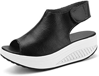 puuyfun Women's Platform Wedge Sandals