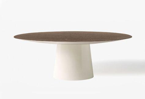 Modern Tisch   Holz   aus Marmor   Glas - UFO - Emmemobili
