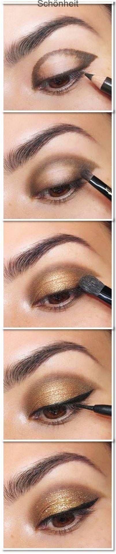Gold Smoky Eye MakGold Smoky Eye Makeup Tutorial - Gehen Sie zu Pampadour.com für ... , #gehen #makeup #makgold #pampadour #smoky #tutorial