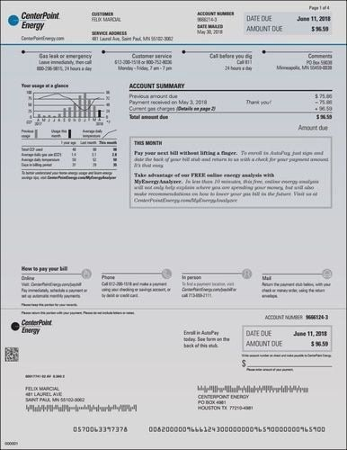 Fake Utility Bill Template Unique Centerpoint Provider Energy Electric Houston Texas Bill Template Energy Bill Gas Bill